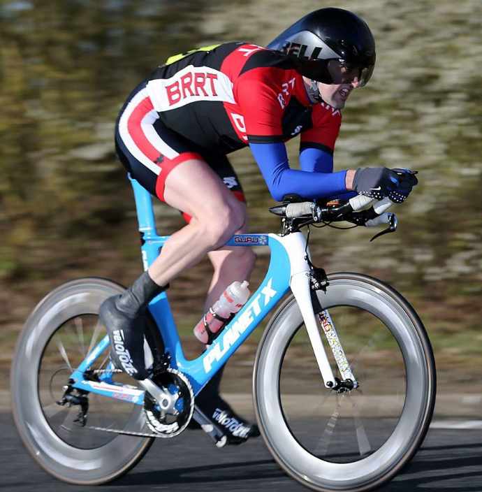 A 25 mile cycling time trial - Matt Donovan on the A1