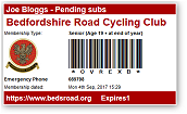 Beds Road CC Membership E-Card